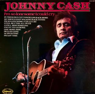 Johnny Cash -  I'm So Lonesome I Could Cry (LP) (G+/G-VG)